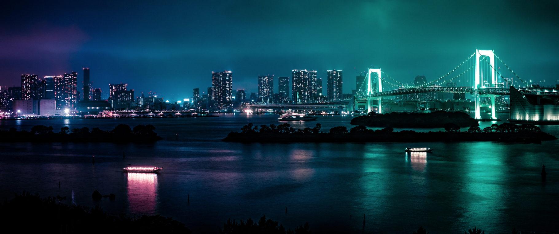 Glowing Bridge (3440×1440 Wallpaper